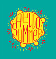 a hand-drawn lettering for the summer vector image