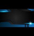 abstract metallic blue black frame design vector image