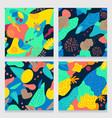 abstract pattern with tropical leaves vector image