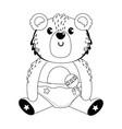 baby symbol and teddy bear design