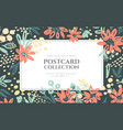 background flowers composition vector image