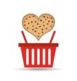 basket sweet biscuits vector image