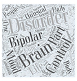 bipolar disorder for dummy Word Cloud Concept vector image vector image