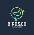 bird logo design with circle shape concept vector image vector image