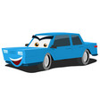 blue car character vector image vector image