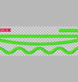 bright green tinsel vector image
