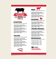 Cafe menu grill template design vector image vector image