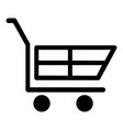 cart for shopping black color icon vector image vector image
