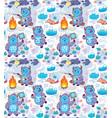 cartoon yetis seamless pattern wallpaper vector image vector image