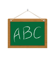 chalkboard with ABC vector image vector image