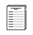 checklist line icon concept sign outline vector image