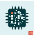 Chip computer isolated vector image