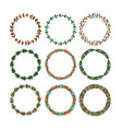 christmas decorative wreath with twigs and berries vector image