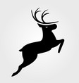 christmas reindeer icon vector image