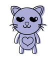 color enamored cat cute feline animal vector image vector image