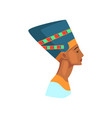 colorful of egyptian queen statue of vector image