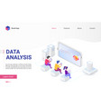 data analysis and visualization isometric landing vector image vector image