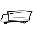 Delivery truck sketch vector image