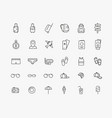design set icons on theme travel vector image