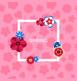 digital pink flowers set vector image