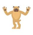 dog happy pet merry emotions bulldog joyful vector image vector image