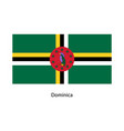 dominica flag vector image vector image