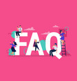 faq frequently asked questions people with vector image vector image