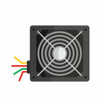 flat hardware power supply icon for repair service vector image