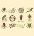 flower shop emblems and bright logo vintage vector image vector image