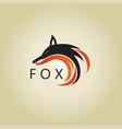 fox logo ideas design vector image vector image