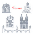 france clermont or champagne line landmarks vector image vector image