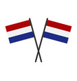 holland flag in on white background vector image vector image