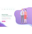 how build happy relationships handsome man woman vector image vector image