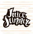 juice summer handwritten unique lettering vector image