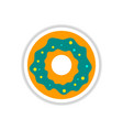 label icon on design sticker collection donut vector image vector image