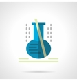 Laboratory glassware flat color icon vector image vector image