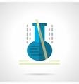 Laboratory glassware flat color icon vector image