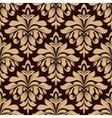 Light brown floral seamless pattern vector image