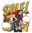 man carries woman in his arms sale vector image vector image