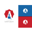 mechanic a letter a in gear icon vector image vector image