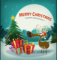 merry christmas holidays background vector image