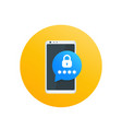 mobile security password access authentication vector image