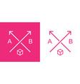 modern arrows sign or logo set template vector image