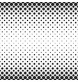 monochrome geometrical halftone circle pattern vector image vector image
