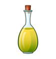 olive oil virgin bottle icon cartoon style vector image