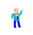 one young cute happy smile fun redhead white man vector image vector image