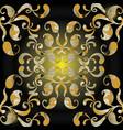 paisleys seamless pattern black shiny vector image vector image