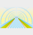 pedestrian tunnel vector image vector image
