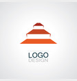 piramyd shape logo vector image