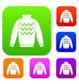 pullover set collection vector image vector image